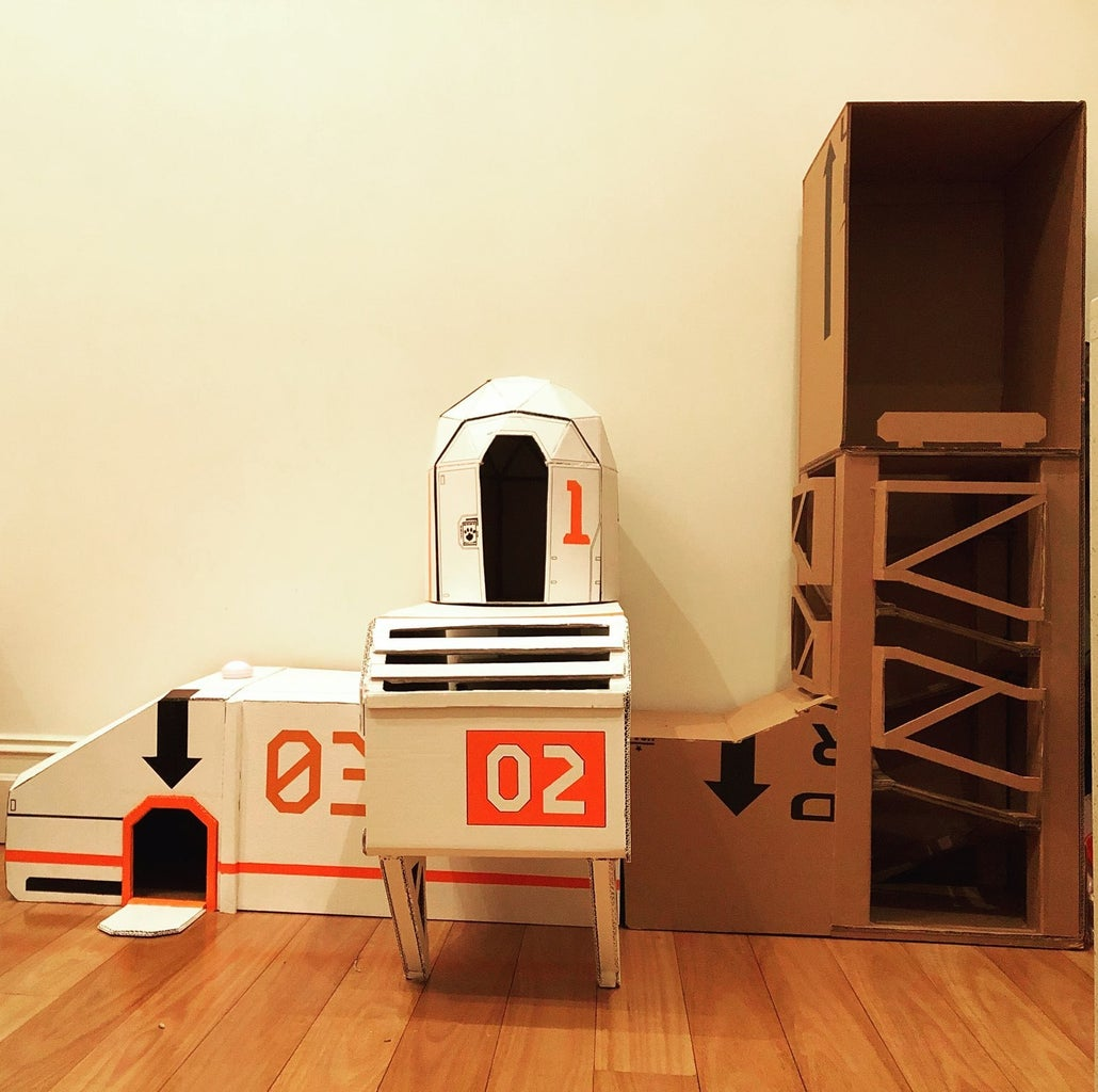 Cardboard Space Igloo for Cats (+ Spacepod Inspiration)