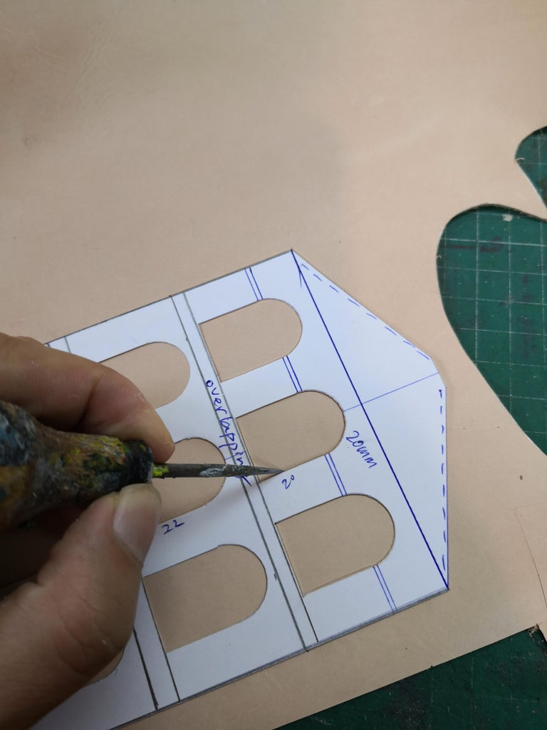 Making Template, Tracing, Cutting.