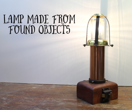 Lamp Made From Found Objects