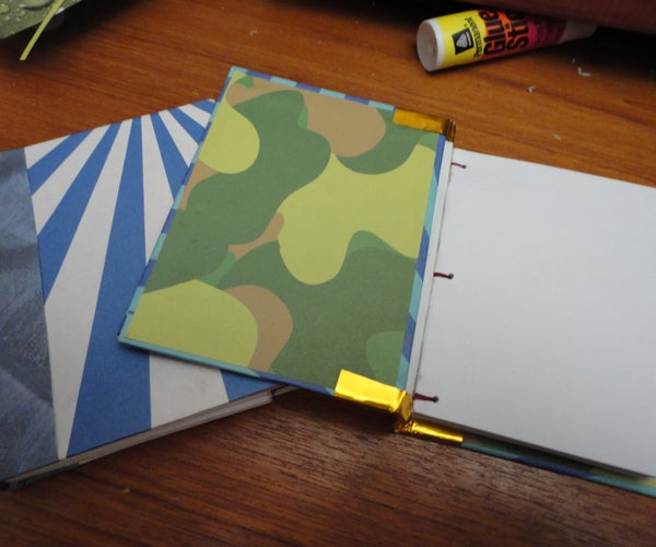 Mini Hard Cover Bookbinding, No Sewing Skills Required!