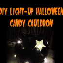 DIY Light-up Halloween Candy Cauldron