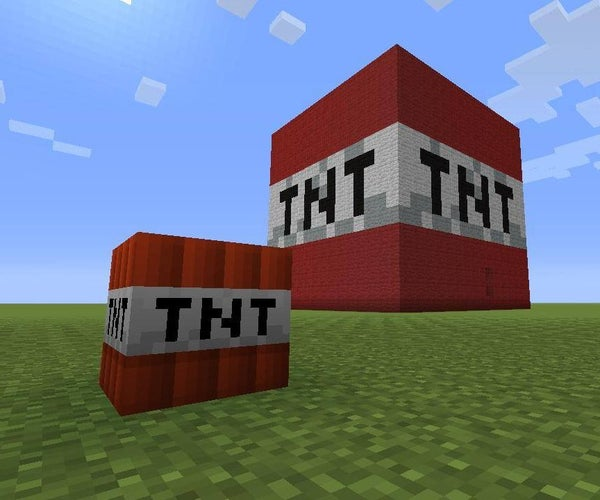 How to Make a Giant Minecraft TNT Block That Explodes!