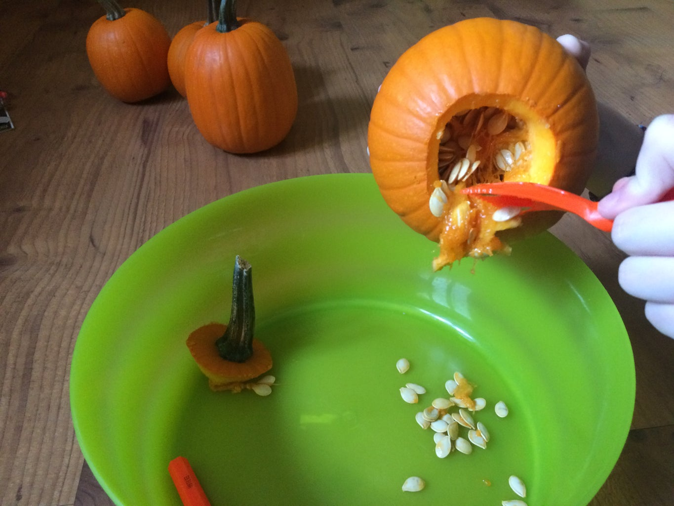 Cleaning Out the Pumpkins