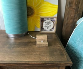 DIY Solid Wood IPhone Charging Dock