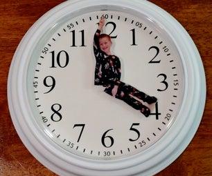 Custom Clock With Photo Hands