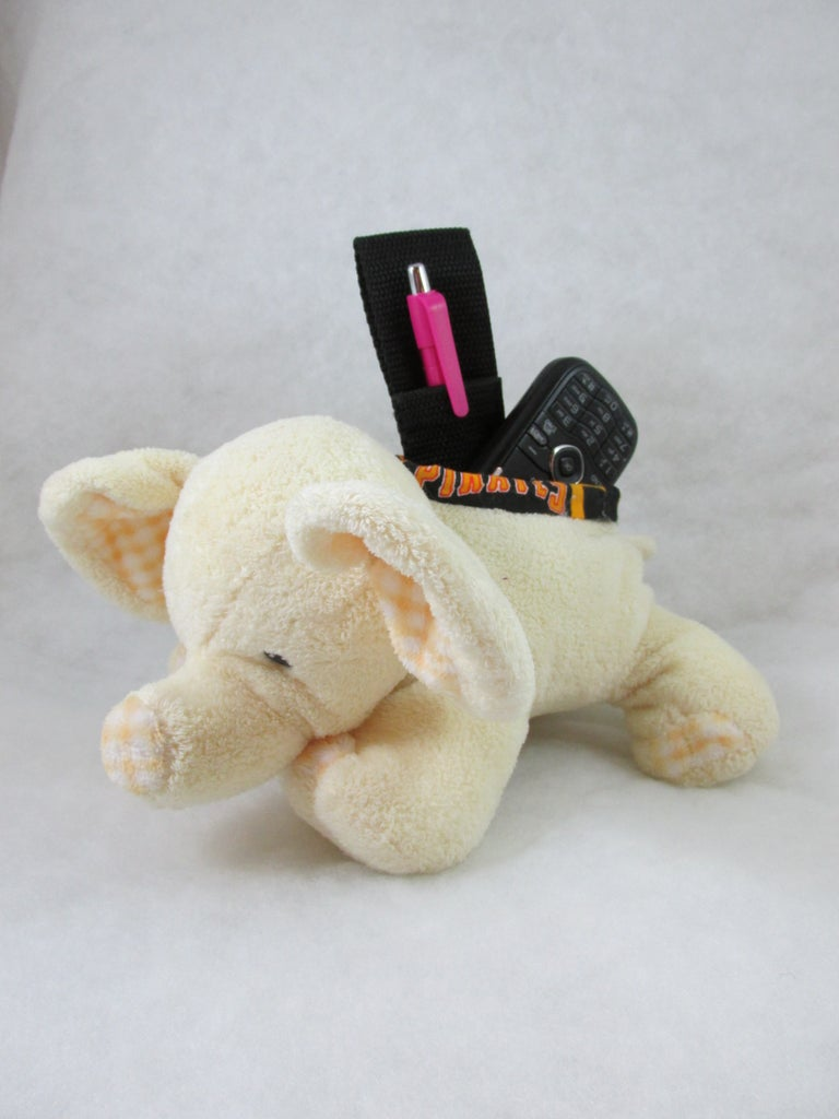 Re-purposed Stuffed Animal Into a Little Gadget Container