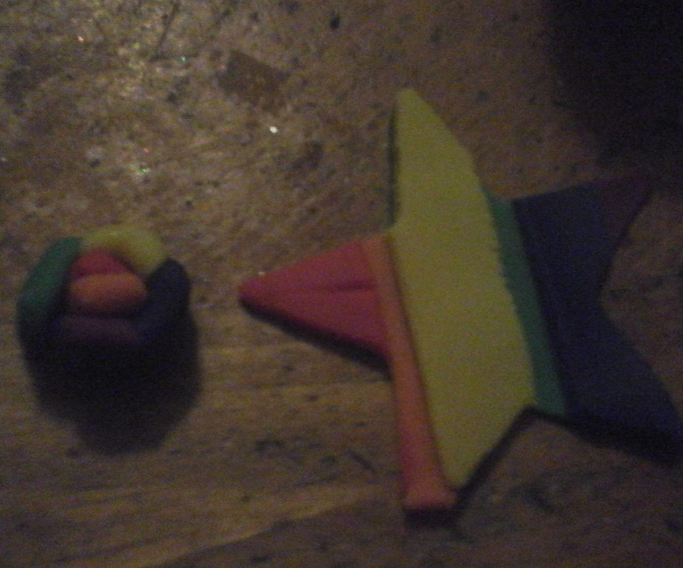 Rainbow play-doh spirals and stars