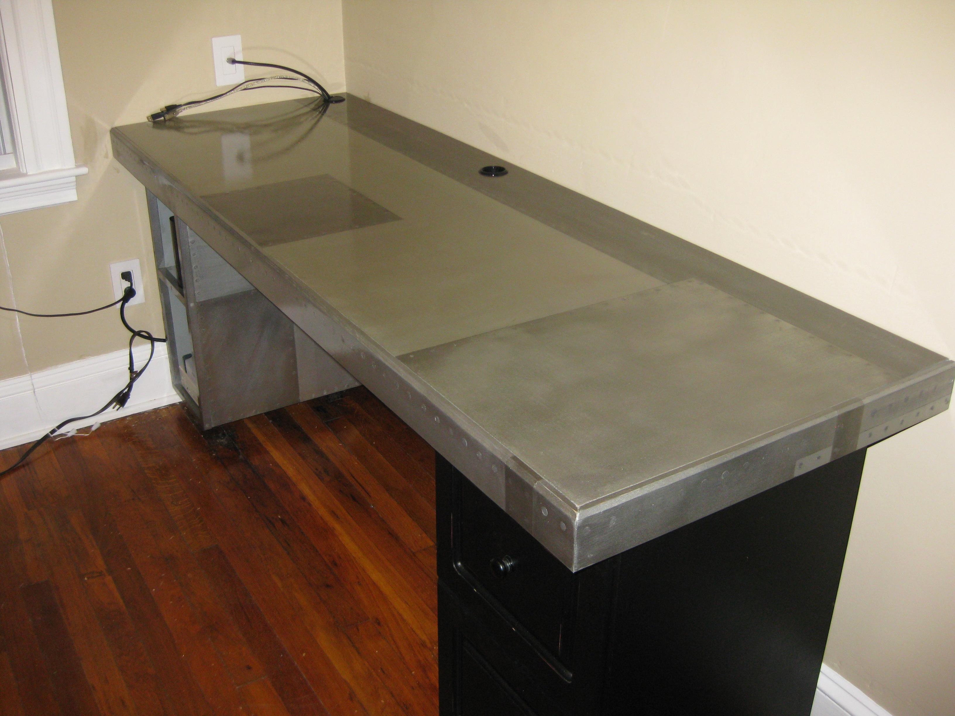 The Faux Metal Desk