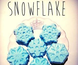 Microwave Snowflake Soap