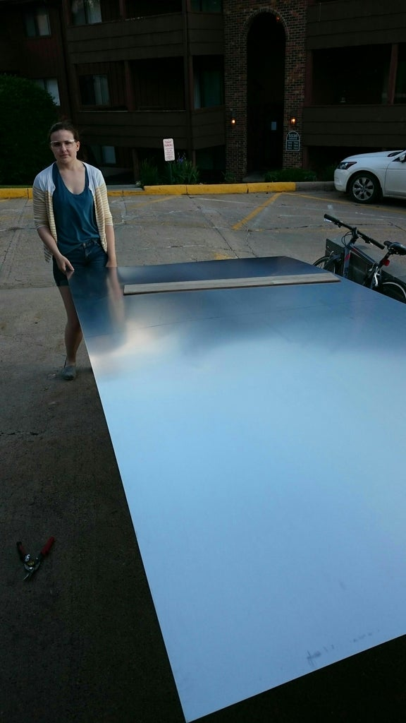 Putting on the Aluminum Sheeting!