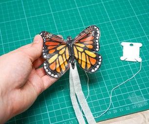 DIY Mini BUTTERFLY Kite   How to Make a Tiny Kite
