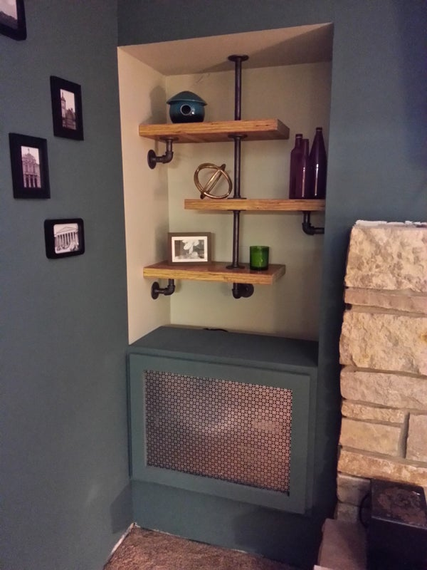 Industrial Modern Shelving and Gaming Cabinet