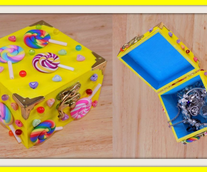 DIY candy themed jewelry box