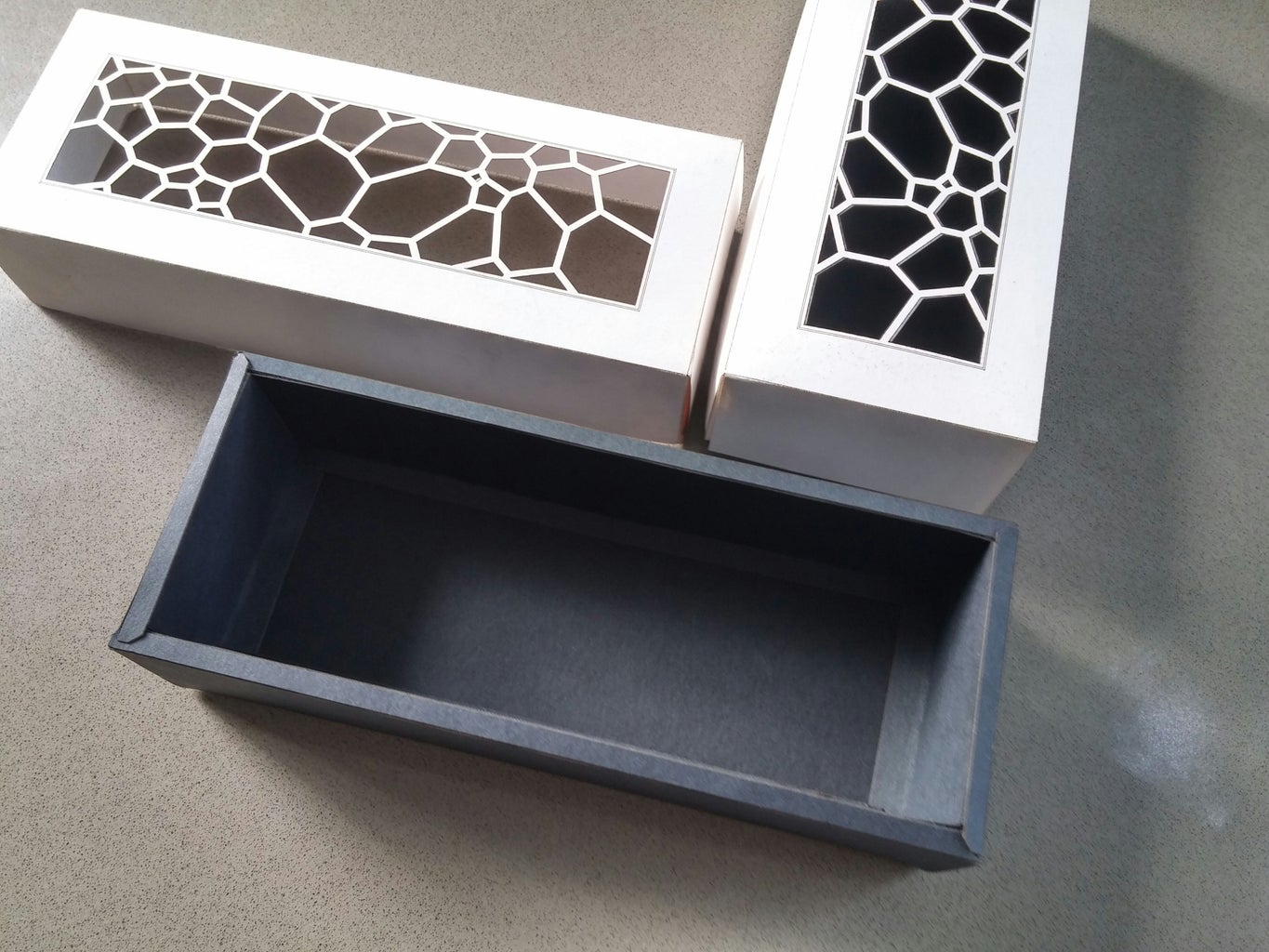 Laser-cut Cardboard Gift Box With Template
