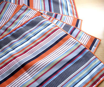 Sew a Set of Made to Measure Stripey Placemats