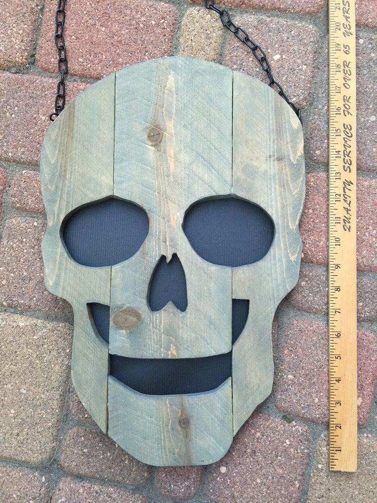 Finished Fence Picket Skull