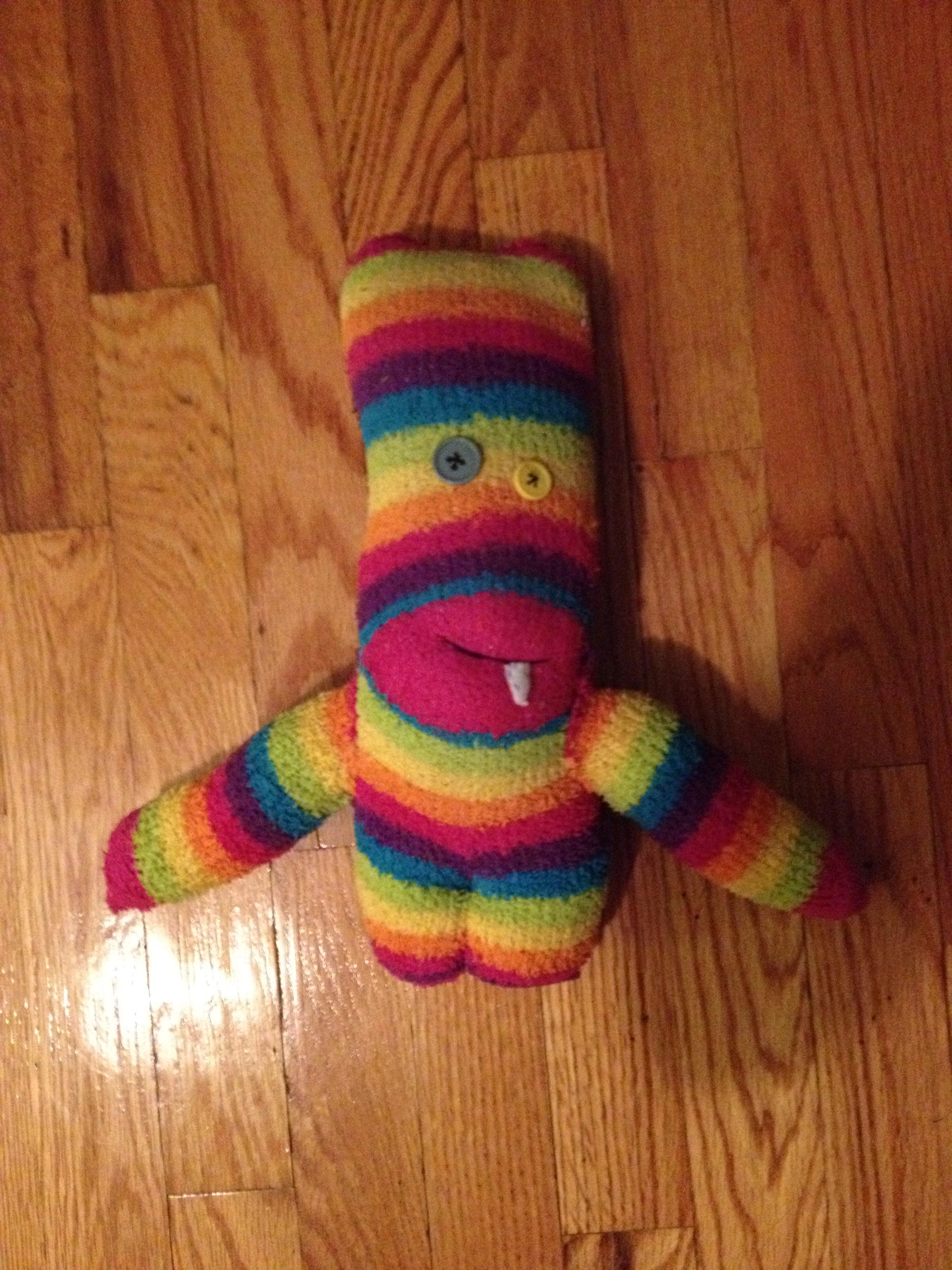 Cute sock monster