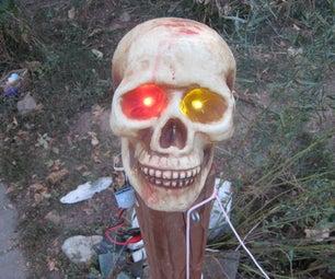 Scary, Motion-sensing, Moving, Halloween Skull