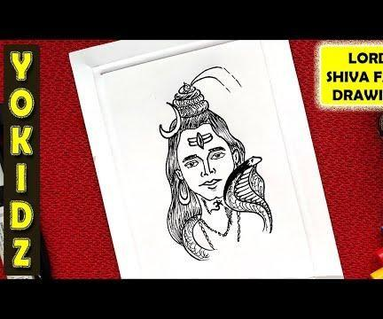 HOW TO DRAW LORD SHIVA FACE EASY