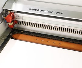 Laser Processed Leather Belt