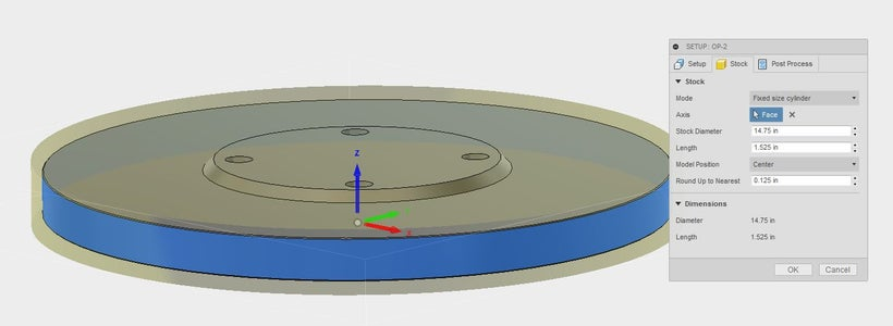 OP-2 Setup in Fusion 360 and on the Haas VF2 Milling Machine