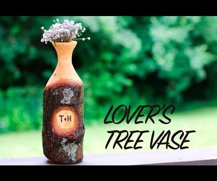 Lover's Tree Vase - Personalized Woodturned Wedding Gift