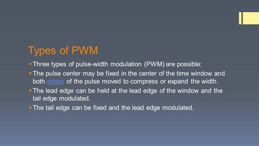 Types of PWM