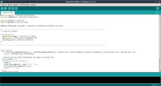 """Software - Explicação Do Código """"Cadastro_RFID"""""""