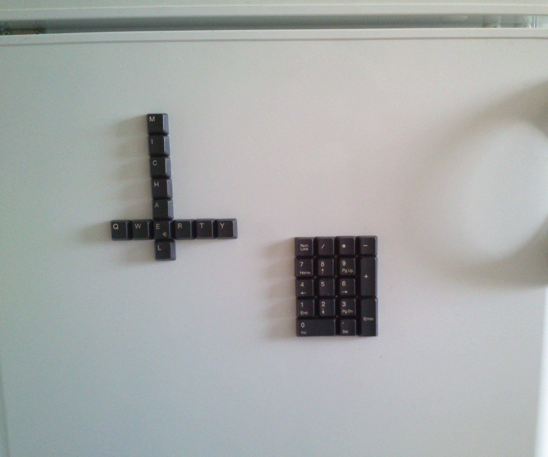 Easy keyboard fridge magnets