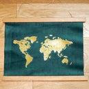 DIY Gold Foil Map Art | How to Apply Foil to Velvet Fabric
