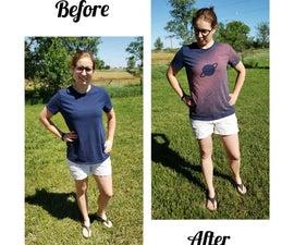 DIY Bleach Space Shirt