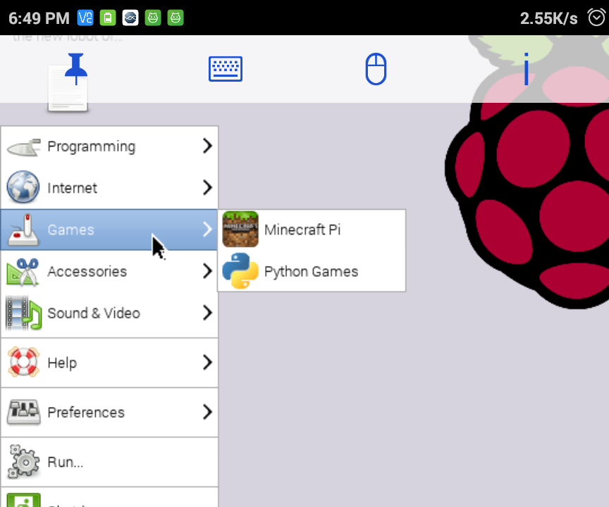 How to connect Raspberry Pi to mobile screen