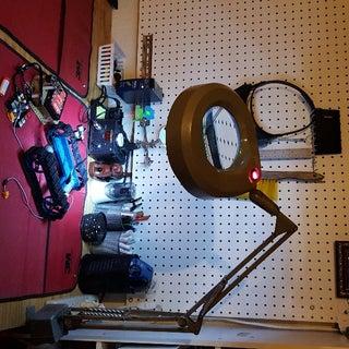 AC Powered White LED Circular Magnifier Work Lamp