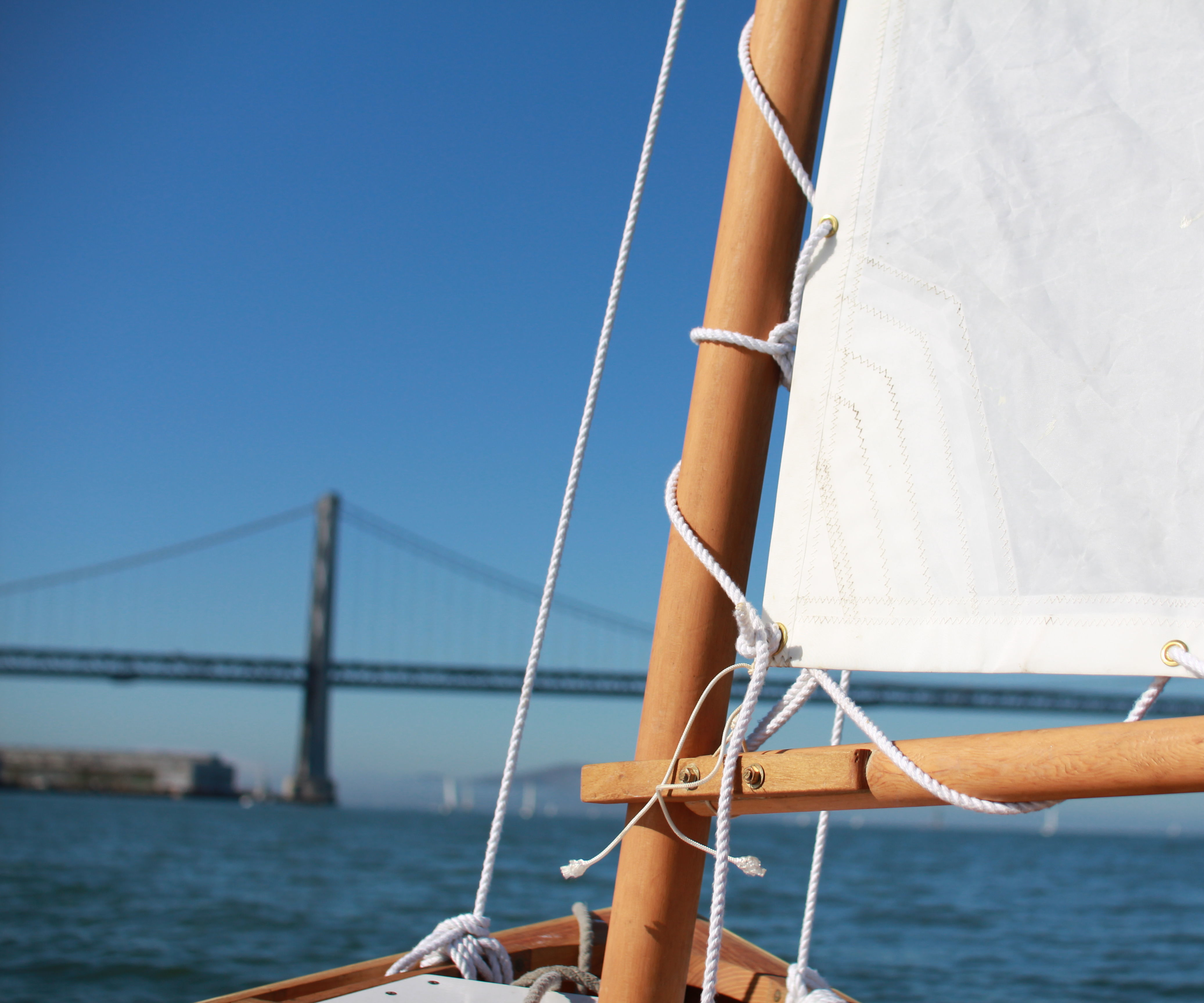 15' Wooden Mast for a Sailboat