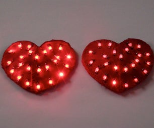 LED Heart Pasties