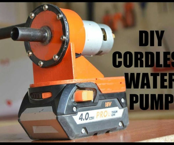 DIY Cordless Water Pump