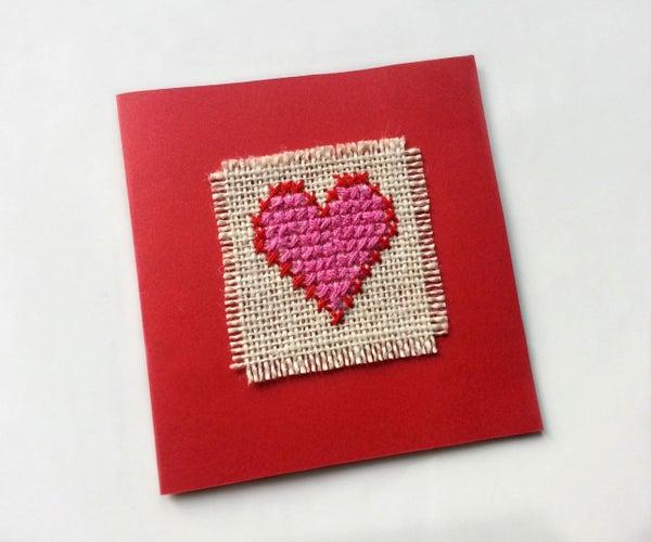 DIY Cross-Stitched Card