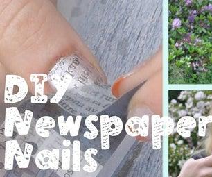 DIY Newspaper Nail Art