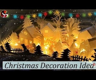 How to Make Christmas Village With Paper