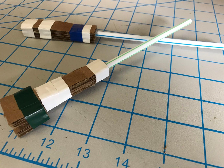 Mini Cardboard Lightsaber