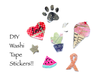 DIY Washi Tape Stickers (Great for Laptops!)