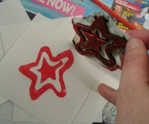Make Foam Stamps From Old Mousemats