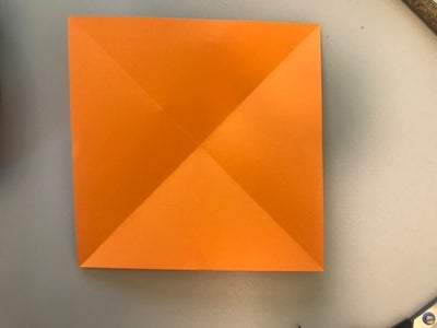 Step 2: Fold the Paper on Both Diagonals