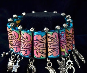 Charm Bracelet From Paper Beads