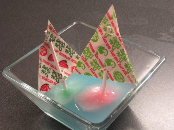 Summer Crafts for Kids: Ice Cube Boats With Dum Dums Sails