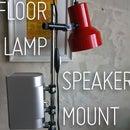 Floor lamp speaker mount