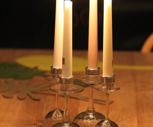 Candle Holder From Antique Crystal Glasses