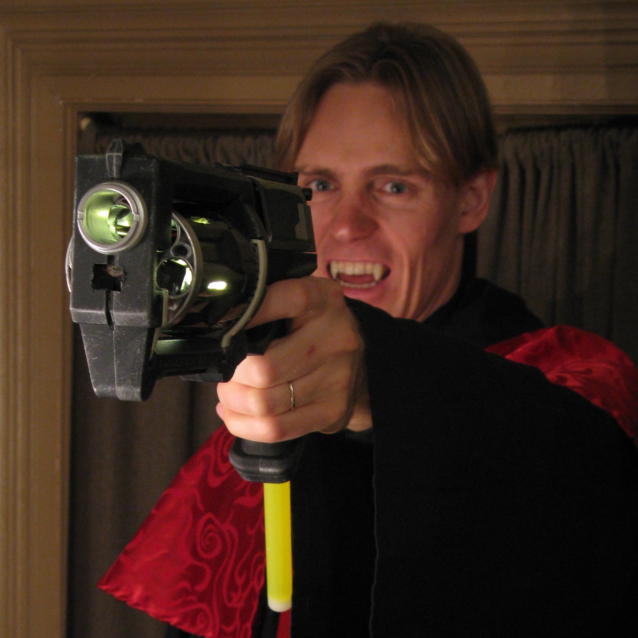 Vampire-Hunting Gun Prop with UV Bullets