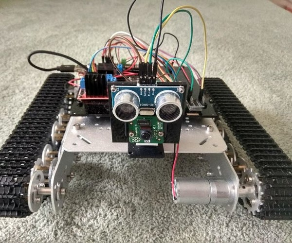 PiTanq - Robot-tank With Raspberry Pi and Python to Learn AI