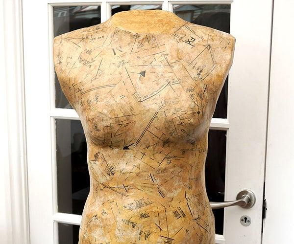 DIY Custom Dress Form   Make Your Own Decoupaged Dressmaking Aid